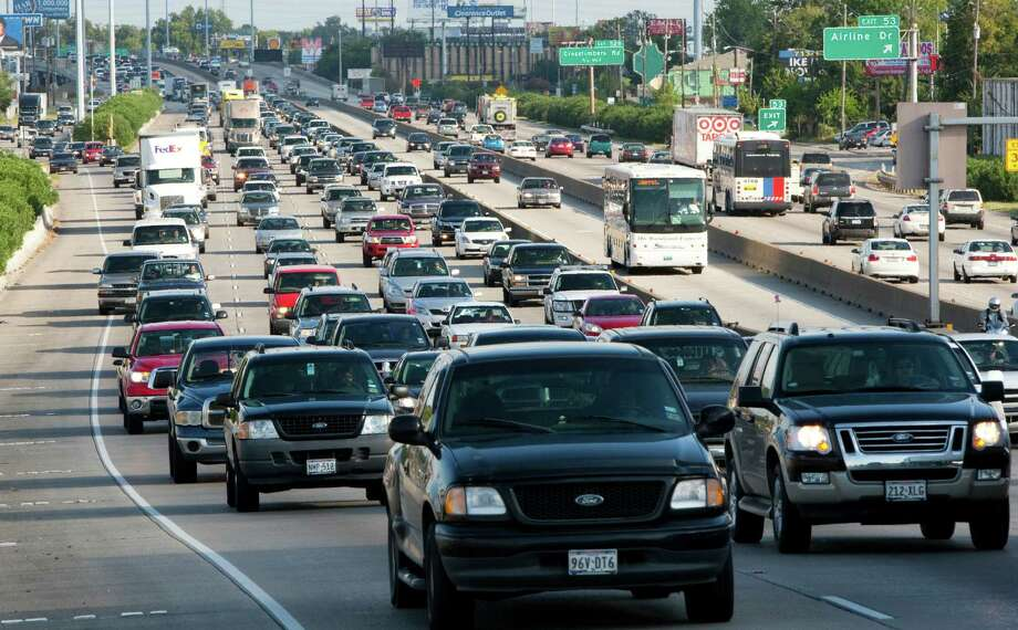 Traffic moves slowly out of downtown Houston on northbound Interstate 45. The North Freeway between the 610 Loop and Beltway 8 north has been listed among the most congested roadway segments in Texas, according to a list released by TxDOT.Traffic moves slowly out of downtown Houston on northbound Interstate 45. The North Freeway between the 610 Loop and Beltway 8 north has been listed among the most congested roadway segments in Texas, according to a list released by TxDOT. Photo: Brett Coomer, Staff / Houston Chronicle