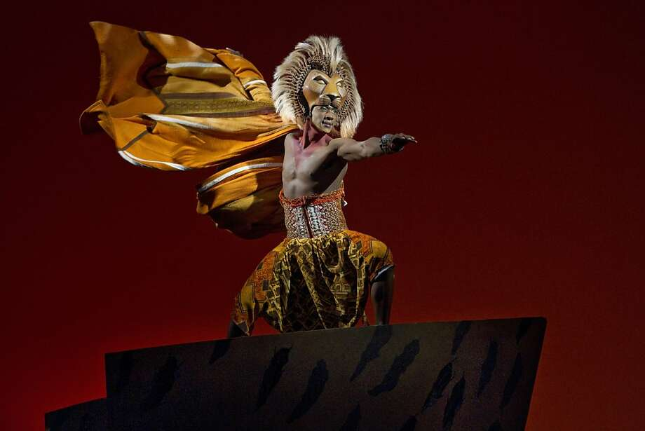 "Jelani Remy is Simba in the national tour of Disney's ""The Lion King,"" running through Jan. 13 at the Orpheum Theatre. Photo: Joan Marcus  Disney, Disney"