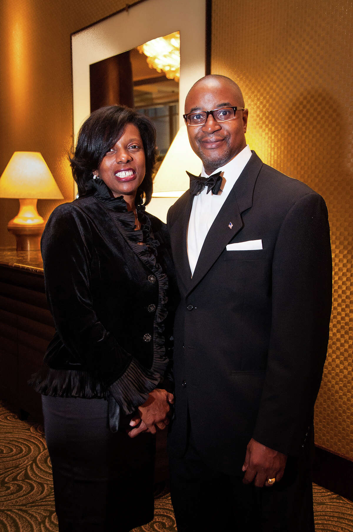 Gala co-chairs Mikita and Carroll Robinson attended the Houston NAACP 2012 Freedom Fund Gala on Friday, Oct. 26, 2012, at the Hilton Americas.
