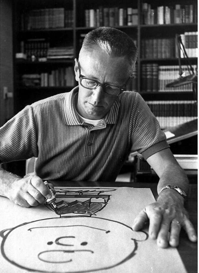 Charles Schulz in 1966 - Peanuts books sold 100,000 copies. Photo: Ap, AP