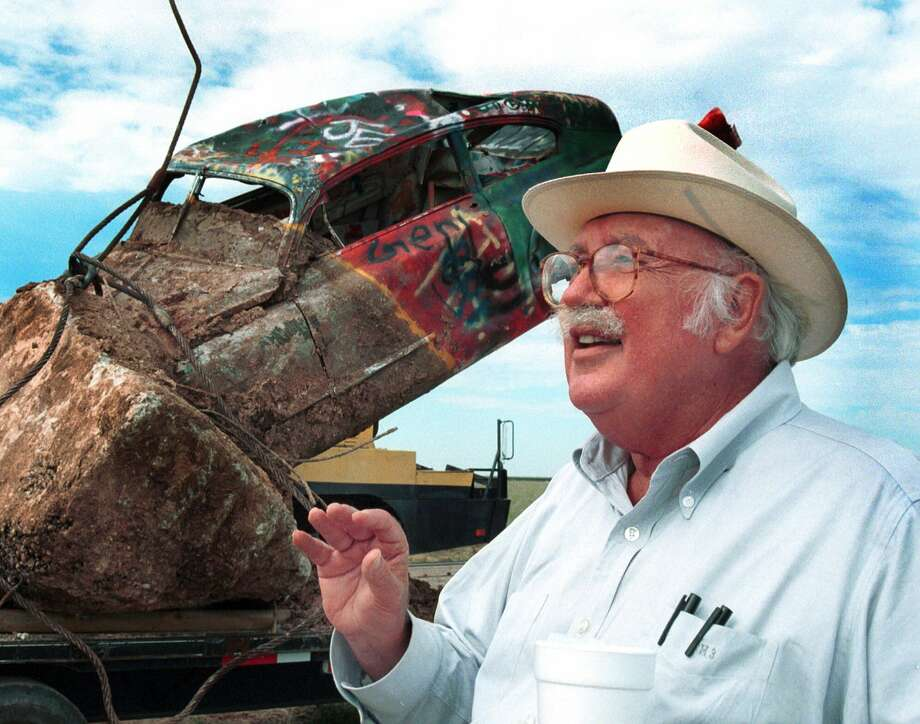Stanley Marsh 3, millionaire oilman and television station owner, is shown at the Cadillac Ranch on Aug. 20, 1997, along U.S. 66, east of Amarillo. Photo: HENRY BARGAS, AP / THE DAILY NEWS & GLOBE