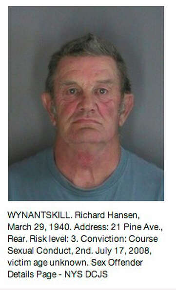 Rensselaer County sex offender as displayed on the Times Union Pinterest page at