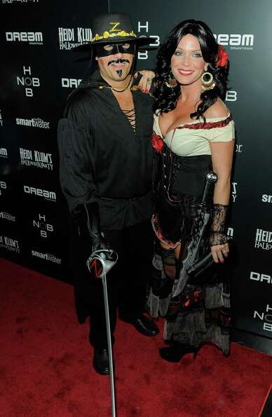 Kevin Mazur and Jennifer Mazur attend Heidi Klum's 12th annual Halloween party at the PH-D Rooftop L