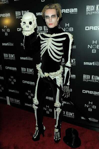 Austin Scarlett attends Heidi Klum's 12th annual Halloween party at the PH-D Rooftop Lounge at Dream