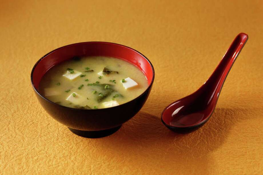 Although most often used in soup dishes, such as this Miso Soup With Fennel and Chard, miso can add a savory punch to almost any recipe. Photo: Craig Lee, Special To The Chronicle / New