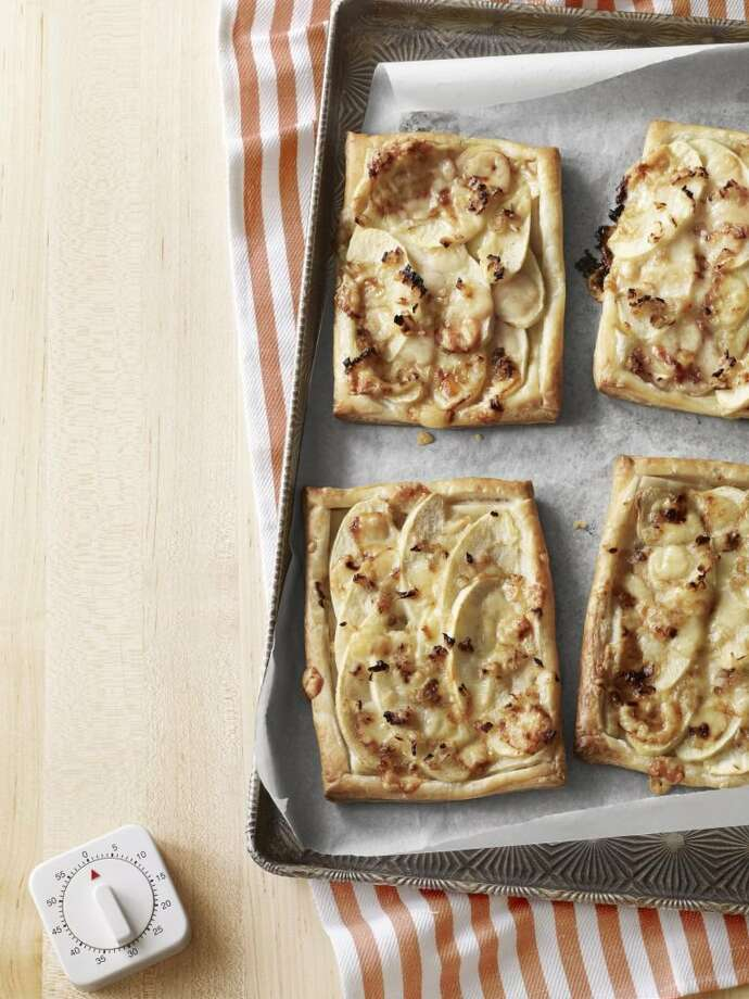 Country Living recipe for Savory Gruy re-Apple Tarts. Photo: KANA OKADA