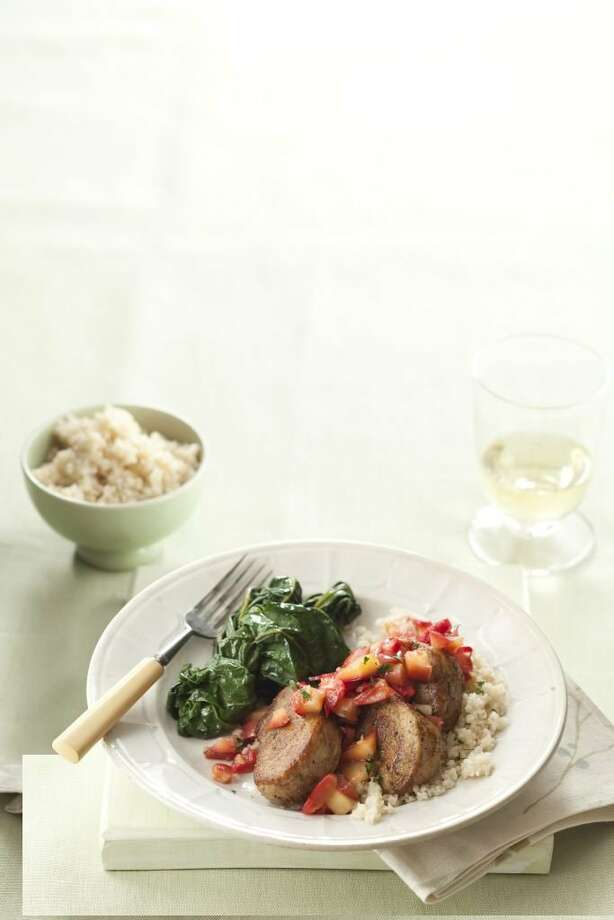 Good Housekeeping recipe for Pork and Gingered Apples. Photo: Kate Sears