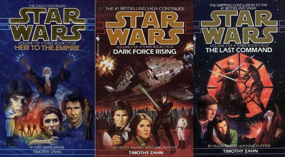 "DOat least draw some ideas from the hundreds of ""expanded universe"" books. The Thrawn trilogy (pictured), written by Timothy Zahn, follows the aftermath of the destruction of the Imperial Empire, for example. Many ""Star Wars"" fans would love to see some of the books hit the silver screen. Photo: Bantam Spectra, Book Covers / Bantam Spectra"