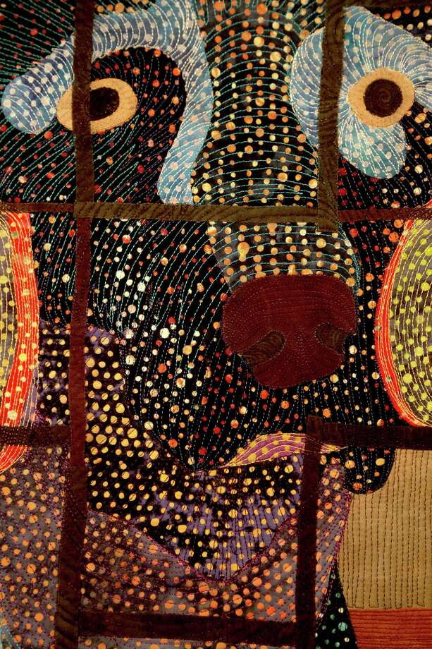 "10/29/12: A detail of Animal Quilt  ""Nude Descending Staircase"" by Pauline Salzman can be seen from November 1- 3 ,2012 at the George R. Brown Convention Center in Houston, Texas. Photo: Thomas B. Shea"