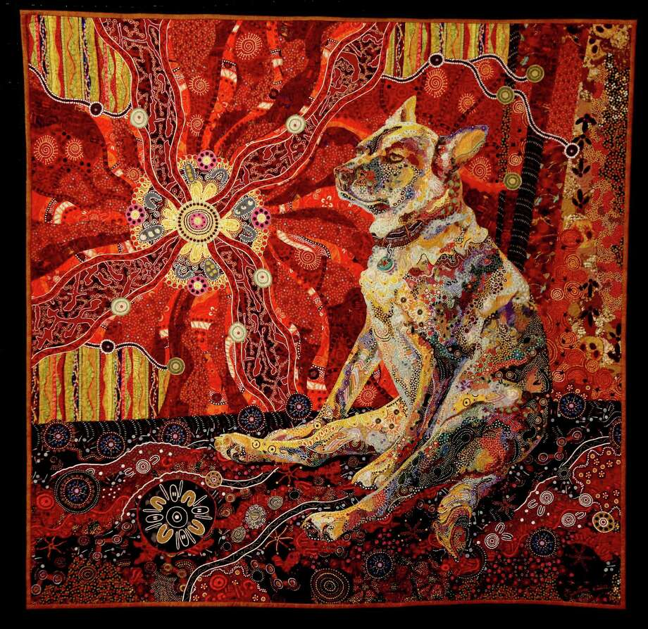 "10/29/12: Animal Quilt  ""Dixie Dingo Dreaming "" by Susan E. Carlson can be seen from November 1- 3 ,2012 at the George R. Brown Convention Center in Houston, Texas. Photo: Thomas B. Shea"