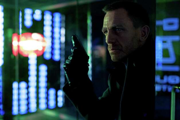 "This film image released by Columbia Pictures shows Daniel Craig as James Bond in the action adventure film, ""Skyfall."" (AP Photo/Sony Pictures, Francois Duhamel) Photo: Francois Duhamel, Associated Press / Sony Pictures"