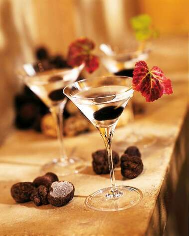 The truffle, highlighted in the martini shown above, is a fungus, though not a mushroom.  Photo: Bernadus Lodge