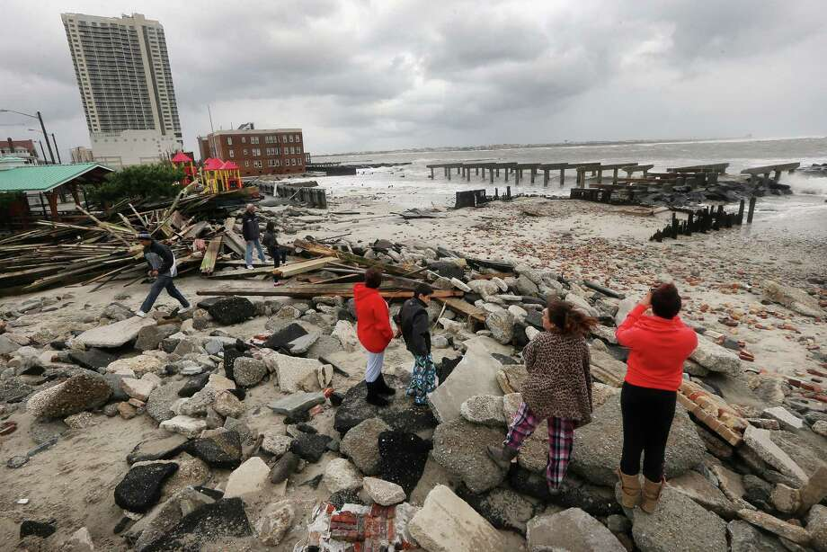 "Hurricane Sandy ripped up a 2,000-foot section of the ""uptown"" boardwalk in Atlantic City, N.J. The Golden Nugget Atlantic City, owned by Houston-based Landry's, didn't take too big a hit, CEO Tilman Fertitta said. Photo: Mario Tama, Staff / Getty Images North America"