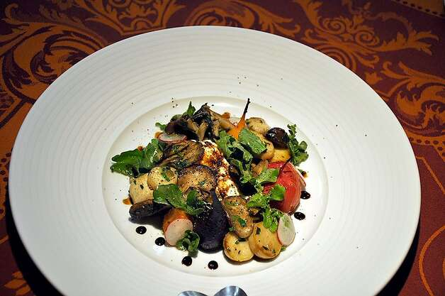 This roasted mushroom salad is one of the dishes on Stamenov's special menu. Photo: Christine Delsol, Special To SFGate