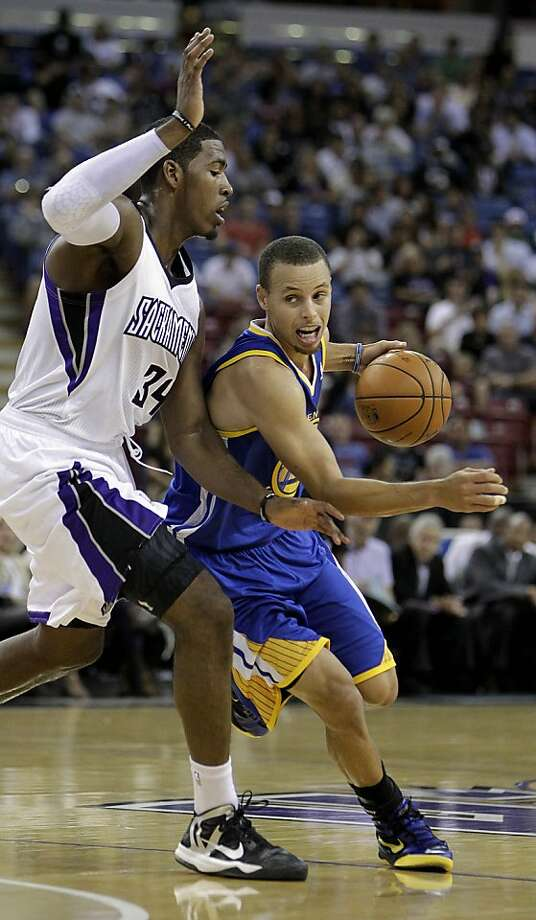 Stephen Curry could be a restricted free agent in July. Photo: Rich Pedroncelli, Associated Press