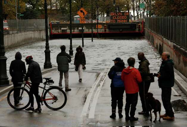 The Battery Park Underpass was completely flooded by the storm, Tuesday, October 30, 2012. Hurricane Sandy caused major damage to New York City and surrounding areas. Photo: Carolyn Cole, McClatchy-Tribune News Service / Los Angeles Times