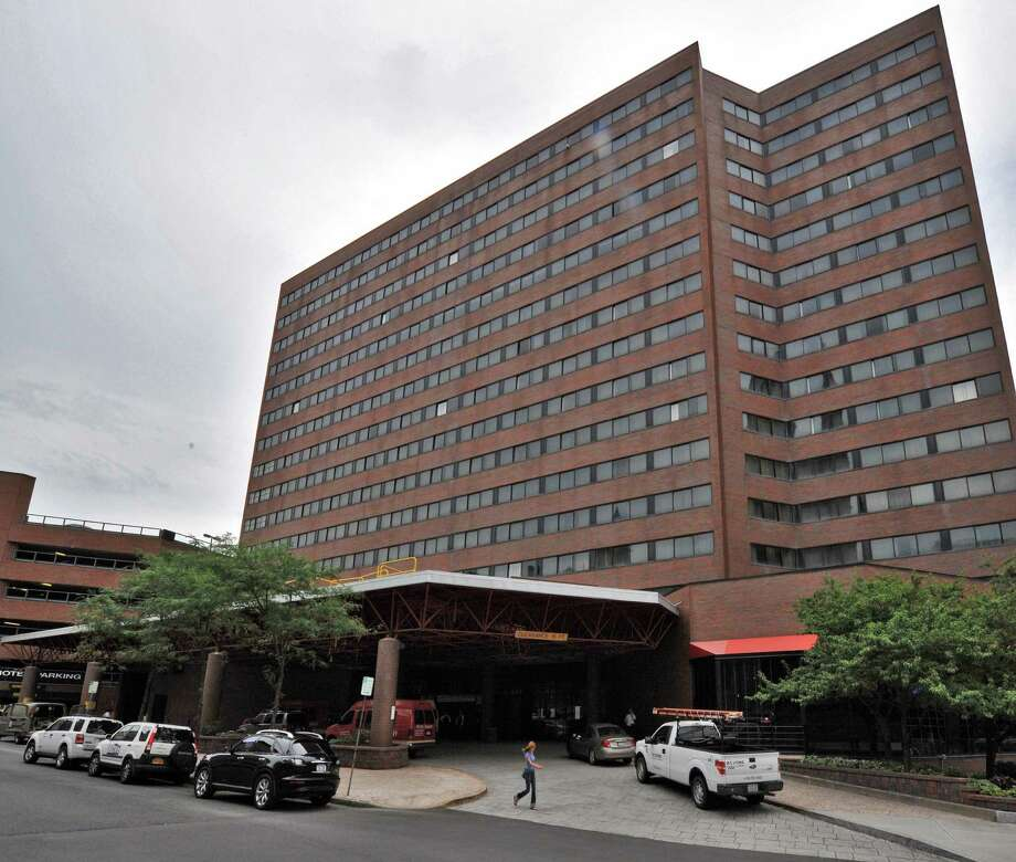 Exterior of the Hotel Albany, formerly the Crowne Plaza, in Albany Tuesday Aug. 14, 2012. (John Carl D'Annibale / Times Union) Photo: John Carl D'Annibale / 00018835A