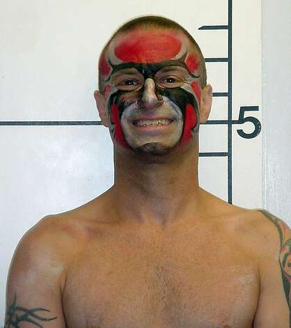 Paul Addis after being booked in Lovelock, Nev., in 2007 for torching the Burning Man icon prematurely. Addis died Oct. 27, 2012, in San Francisco when he jumped in front of a BART train. Photo: Ho, AP