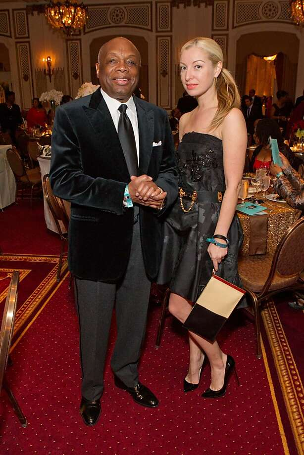 Former Mayor Willie Brown with girlfriend Sonya Molodetskaya. Photo: Drew Altizer Photography, Drew Altizer