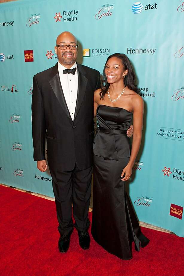 Rodney Williams, senior vice president at Moet Hennessy, was honored with the Patron of Culture Award at the 7th annual Museum of the African Diaspora gala, held Oct. 26, 2012 in San Francisco. He is seen here with Aisha Collins. Photo: Drew Altizer Photography, Drew Altizer
