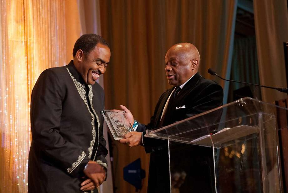 Emmett Carson, chief executive officer of the Silicon Valley Community Foundation, manages a foundation with more than $2 billion in funds and is internationally renowned for his work in social justice grant-making and  public accountability. He was bestowed with the Legacy of Philanthropy Award at the MoAD gala on Oct. 26, 2012. Here, he's seen with former San Francisco Mayor Willie Brown. Photo: Drew Altizer Photography, Drew Altizer