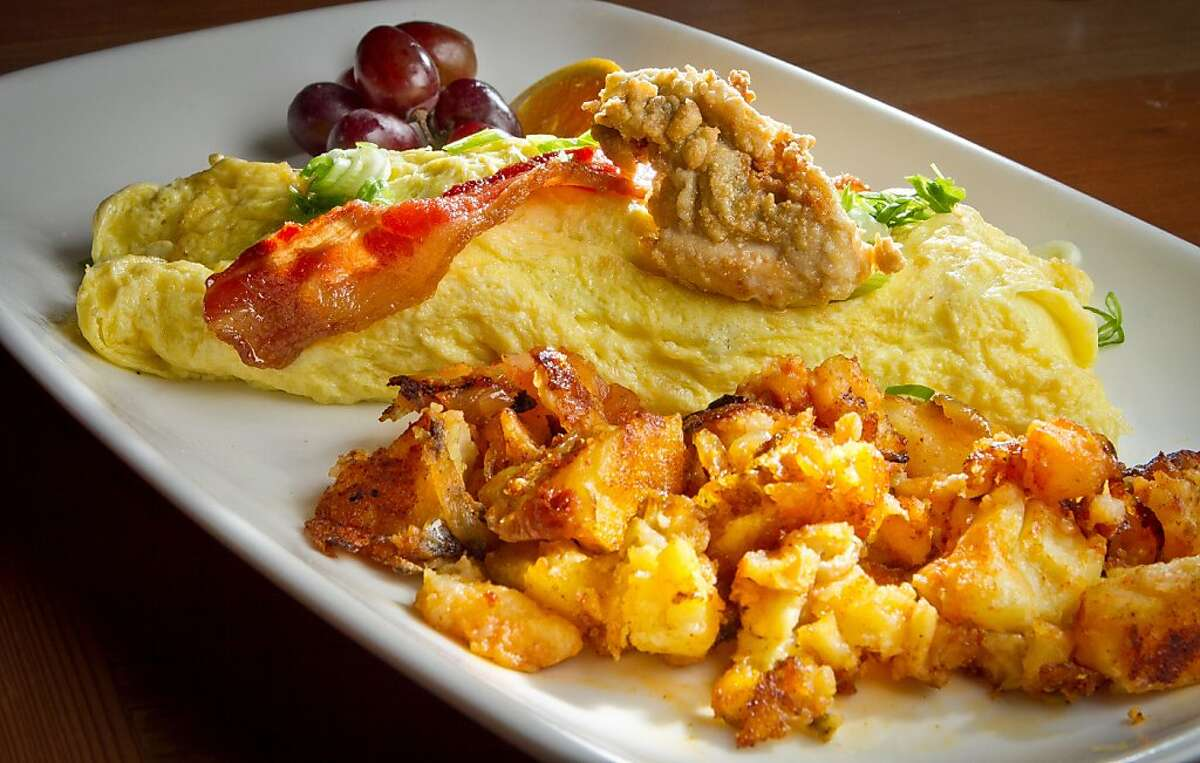 The Hang Town Fry Omelette at the Three Squares Cafe in Santa Rosa, Calif., on Friday, October 26th, 2012.