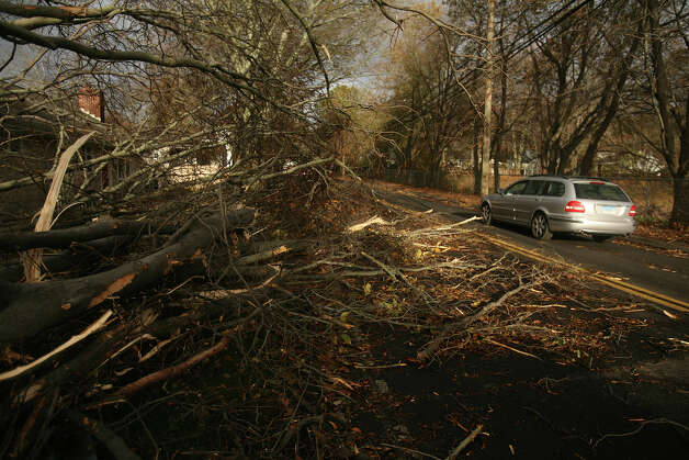 The aftermath of Hurricane Sandy in Milford on Tuesday, October 30, 2012. Photo: Brian A. Pounds