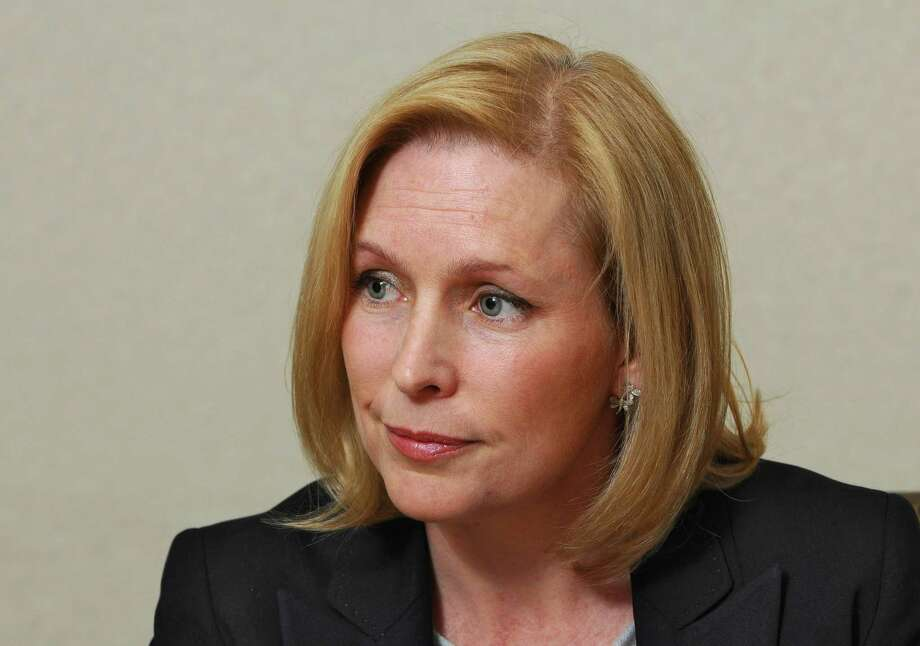 Sen. Kirsten Gillibrand speaks to the Times Union editorial board on Wednesday Oct. 17, 2012 in Colonie, NY.  (Philip Kamrass /  Times Union) Photo: Philip Kamrass / 00019681A