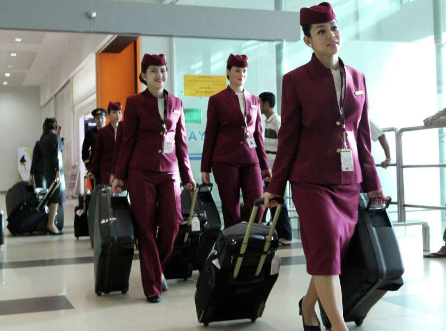 Flight attendant: Free flights are the best perk offered to flight attendants. Attendants' salaries start at around $16,191 a year, according to the Association of Flight Attendants. But salary goes up as you stay on the job, and the median salary for the 90,500 US flight attendants is $37,740, according to the BLS. Find flight attendant jobs here. Photo: Khin Maung Win, . / AP