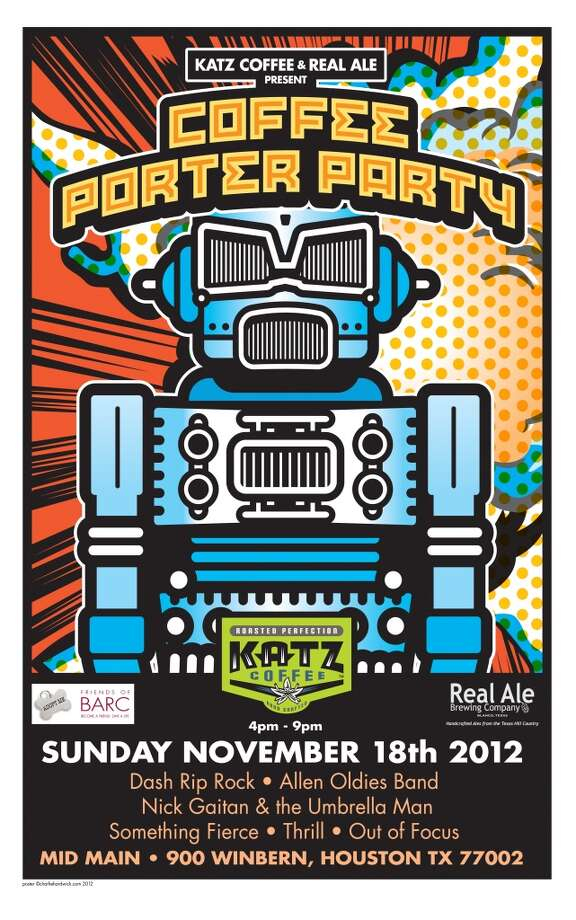 Finally, chill out at Real Ale's annual Coffee Porter Party on Sunday, Nov. 18, and celebrate the Blanco brewery's fall seasonal beer. It's infused with Houston's own Katz Coffee. There's a nice musical lineup as well this year. Mid Main, 900 Winbern, 4-9 p.m.