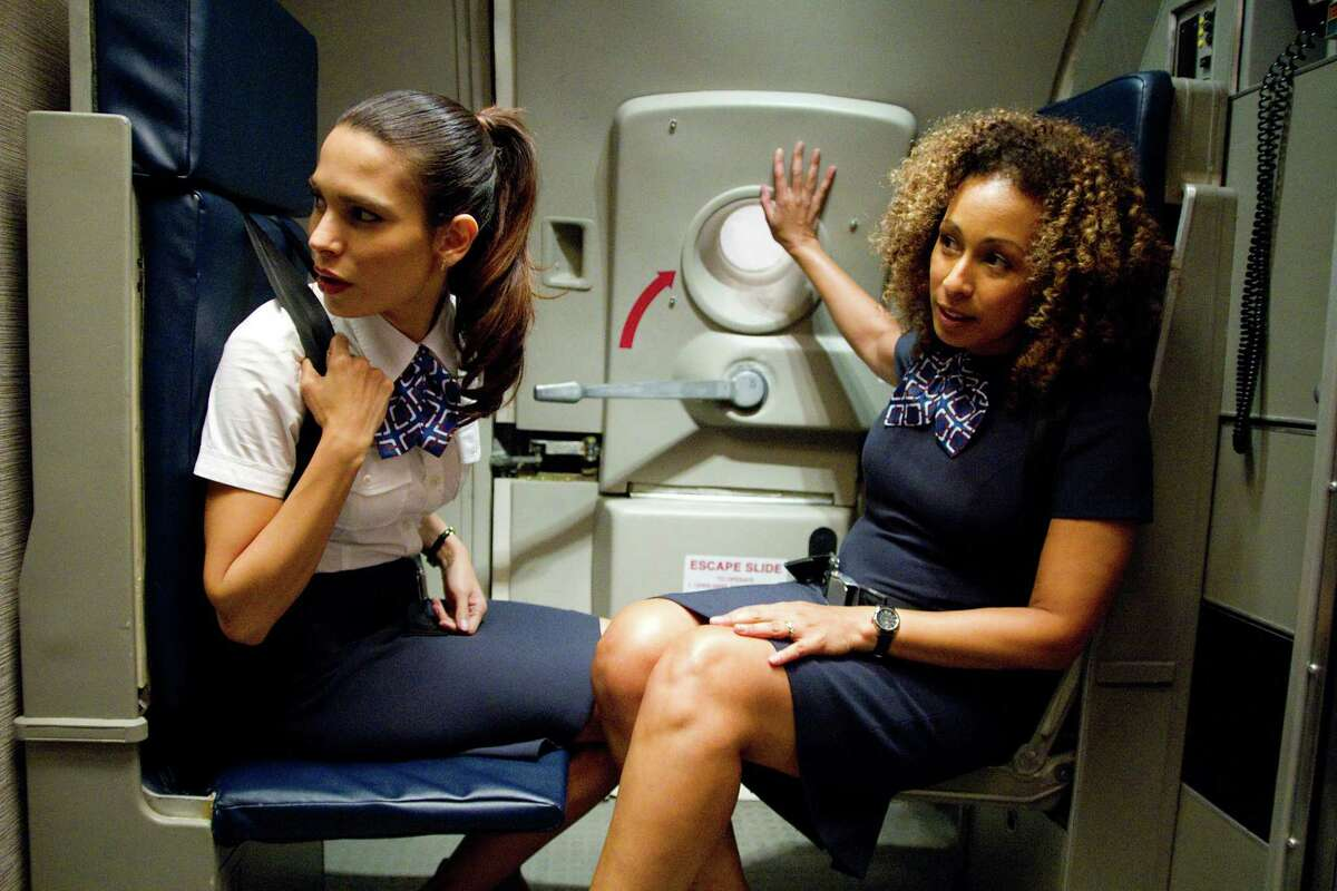 Robert Zuckerman/Paramount Pictures (Left to right) Nadine Velazquez is Katerina Marquez and Tamara Tunie is Margaret Thomason in FLIGHT, from Paramount Pictures.