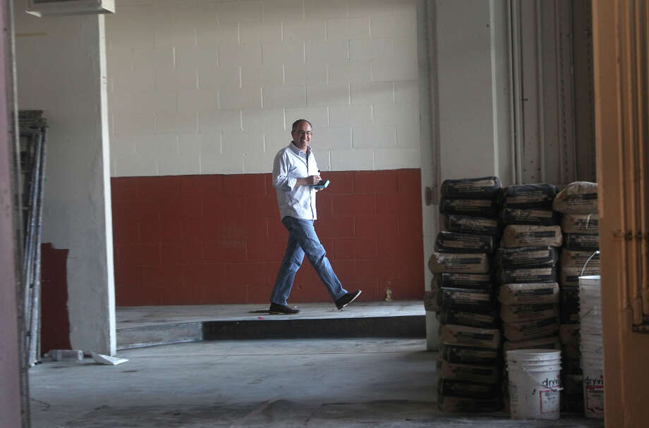 Candy maker Chuck Siegel walking through where his two chocolate panners will be placed in his new factory in San Francisco, Calif., on Wednesday, October 24, 2012. Photo: Liz Hafalia, The Chronicle / ONLINE_YES