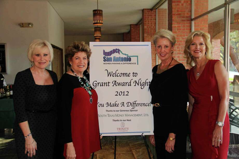 Impact San Antonio members Mary Ballenger Brook, from left, President Ann Parker, Jan Newton and event chairwoman Lora Watts celebrate Grant Award Night after nearly a year of examining applicants and their programs. Photo: Courtesy Rick Neal