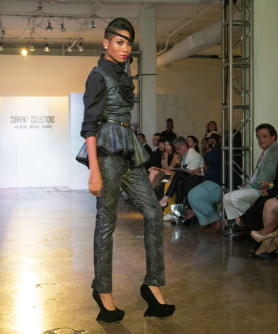 A design by Danielle Andrews at Current Collections:The SA Emerging Designer Competition, an event of Fashion Week San Antonio, at Blue Star Contemporary Art Center, Tuesday, October 23, 2012 Photo: J. MICHAEL SHORT, FREELANCER / THE SAN ANTONIO EXPRESS-NEWS