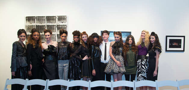Models pose with art at Current Collections:The SA Emerging Designer Competition, an event of Fashion Week San Antonio, at Blue Star Contemporary Art Center, Tuesday, October 23, 2012 Photo: J. MICHAEL SHORT, FREELANCER / THE SAN ANTONIO EXPRESS-NEWS