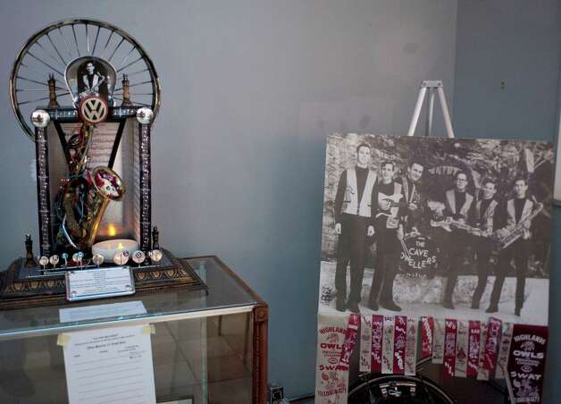 A Dia de los Muertos altar dedicated to the late Fred Son, photographed Saturday, Oct. 13, 2012, at the South Texas Popular Culture Center in San Antonio. Photo: Darren Abate, FRL