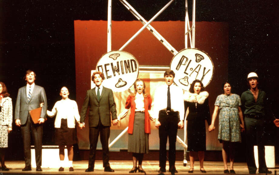 "Danbury attorney Karin NeJame, second from right, was a theater major at Western Connecticut State University in Danbury when she appeared in ""Rewind and Play"" in 1975. The show included ""The Virgin Voter's Handbook,"" a satirical tune she now belts out to friends and family, urging all to vote on Election Day. Photo: Contributed Photo"