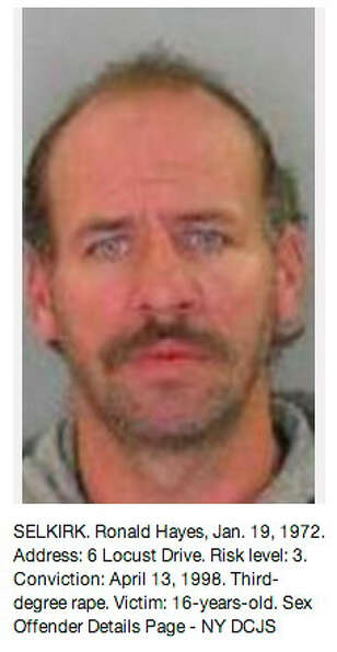Albany County sex offender as displayed on the Times Union Pinterest page at