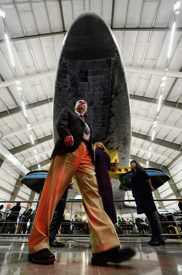 The space shuttle Endeavour exhibit opens to the public with a grand 