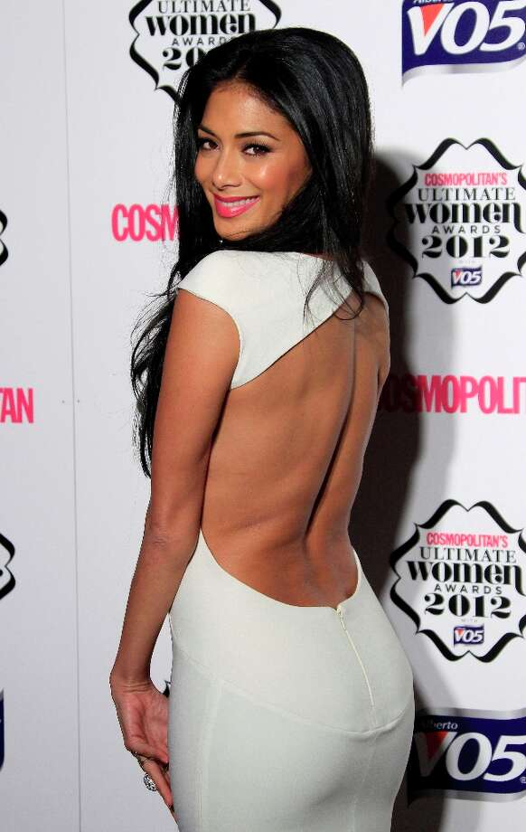 Nicole Scherzinger arrives for the Cosmopolitan Women Of The Year Awards at the V&A museum in central London, Tuesday, Oct. 30, 2012. Photo: Joel Ryan, Associated Press / Invision