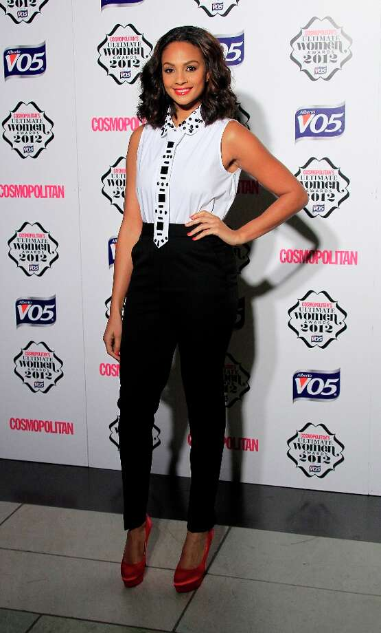 Alesha Dixon arrives for the Cosmopolitan Women Of The Year Awards at the V&A museum in central London, Tuesday, Oct. 30, 2012. Photo: Joel Ryan, Associated Press / Invision