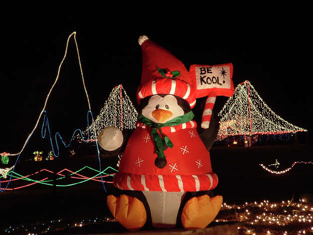 Santa's Ranch ($35 per vehicle): The winter wonderland hit will be open until Jan. 4. Hours are from 6 to 10 p.m. Sunday through Thursday and 6 to 11 p.m. Friday and Saturday. Ticket buyers can drive through over a mile of winding country roads while taking in the beautiful lights, animated Christmas displays and enjoying homemade hot cocoa, kettle corn and snacks. Tickets are $35 per vehicle. Santa's Ranch, 9561 I-35 North (go North on IH 35 and take exit 199. Take turnaround and go south 1 mile, 830-743-1293, santasranch.net.  Photo: COURTESY SANTA'S RANCH / email ~ Harry Shattuck