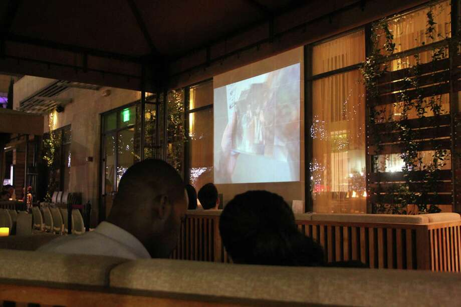 """Straits is showing movies on its patios as part of its Moonlight Cinema Series. This week's feature is """"Inception."""" Photo: Courtesy Photo / New"""