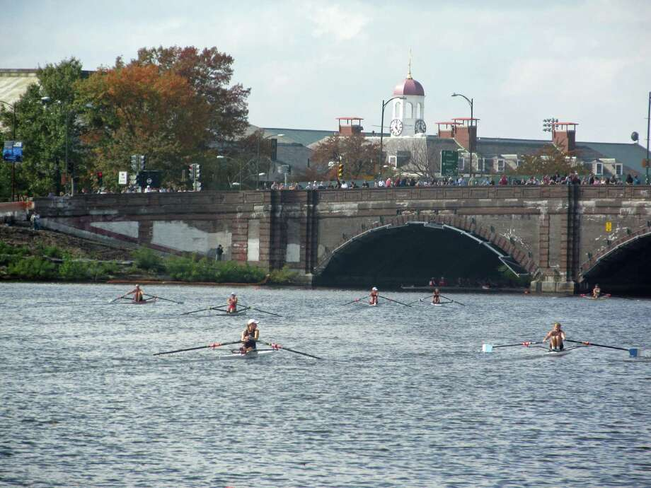 The Saugatuck Rowing Club Juniors competed in the Head of the Charles Regatta on the Charles River in Boston on Oct. 20-21. Photo: Contributed Photo