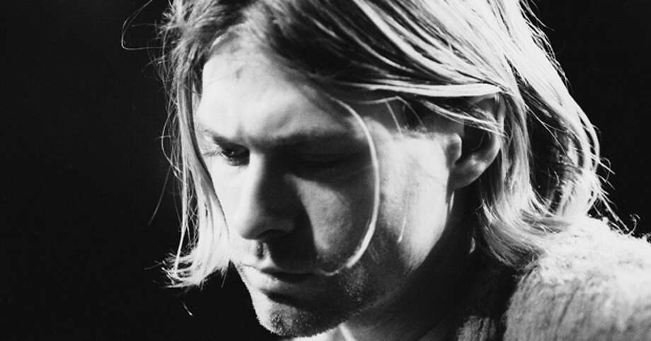 Kurt Cobain, pictured in a Getty Images photo.