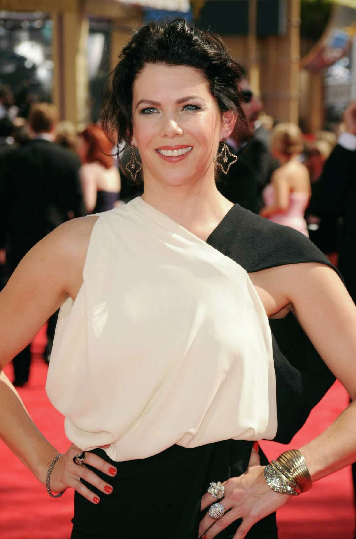 Actress Lauren Graham is scared of her book's release next year because she will have to talk to people on Twitter about it.