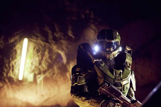 Master Chief walks through the mine during the HALO 4 launch by Xbox 360 on October 29, 2012 in Balzers, Liechtenstein. Photo: Getty Images, Getty Images For Halo By Xbox 36 / 2012 Getty Images