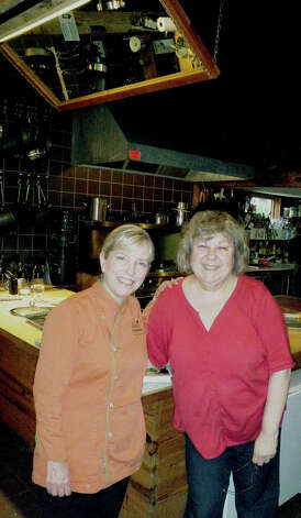 Renowned chef Sarah Moulton, left, pays a vist to The Silo cooking school in New Milford. Here she is welcomed by Hunt Hill Farm Trust executive director Liba Furhman.  Courtesy of The Silo Photo: Contributed Photo