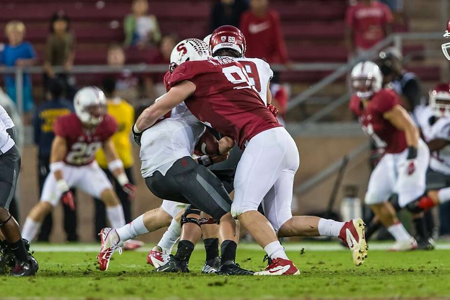 Henry Anderson shed 8 pounds to make himself more mobile for chasing the Pac-12's many spread offenses. Photo: Jim Shorin, Stanfordphoto.com