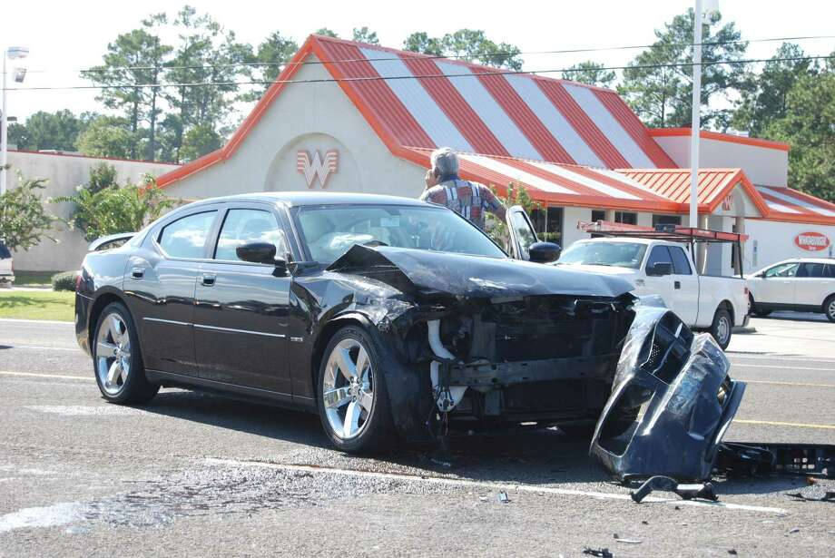 A wreck on N. Main in Lumberton today was devestating, but fortunately resulted in no injuries. Photo: Jay Cockrell / Jay Cockrell